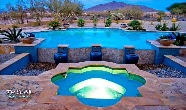 Pool Design byTribal Waters Custom Pools & Spas inPhoenix, AZ