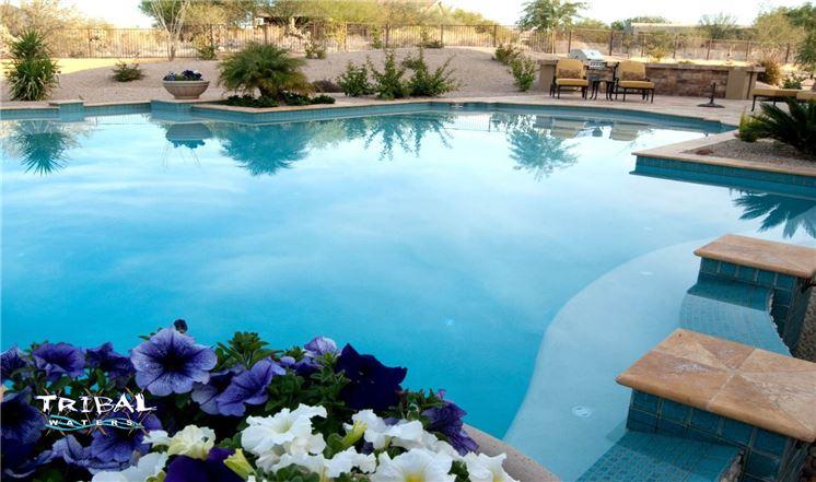 Phoenix area custom pool builder tribal waters custom for Pool design phoenix