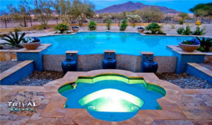 Custom Hardscaping Design by Tribal Water Custom Pools & Spas